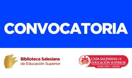 Biblioteca Salesiana de Educación Superior: Convocatoria para cubrir cargo de Auxiliar de Biblioteca