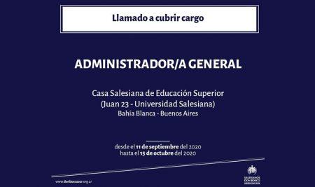 Llamado a cubrir cargo – Casa Salesiana de Educación Superior (Juan 23 – Universidad Salesiana)