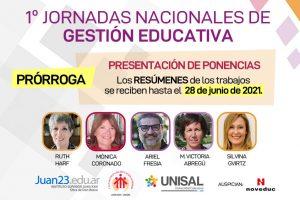 NEWS_1ras_jornadas_nacionales_Gestion_Educativa_PONENCIAS_PRORROGA